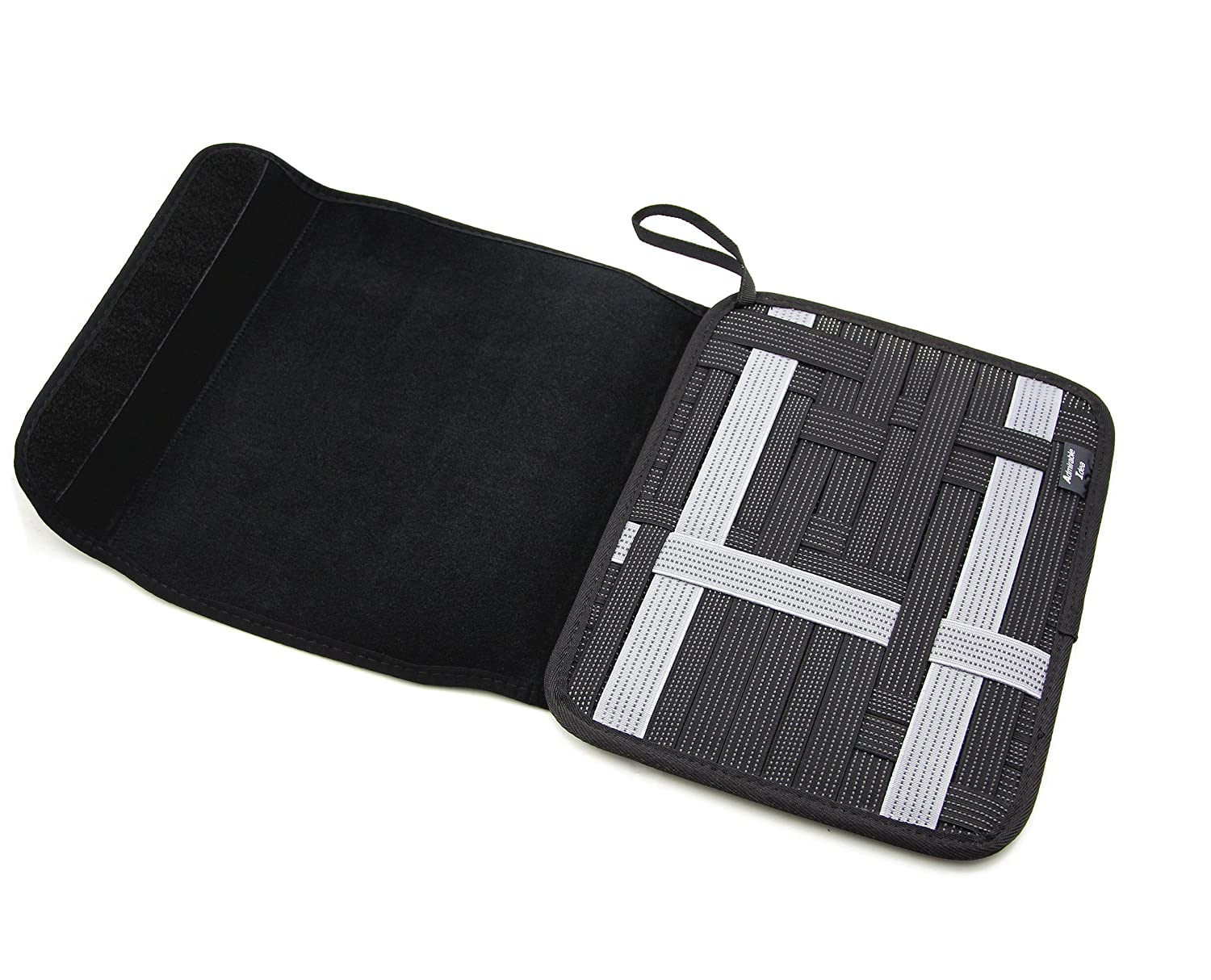 480ab3890838 Admirable Idea Travel Cable Organizer Board with iPad Bag Tablet ...
