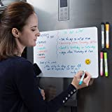 Magnetic Dry Erase Whiteboard Sheet for Fridge with New Stain Resistant Technology - 17x11 inches