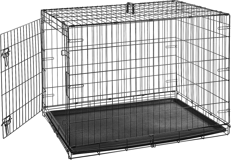 AmazonBasics Single Door Double Door Folding Metal Dog Crate