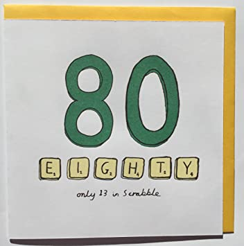 80th Birthday Card Scrabble Amazon Office Products