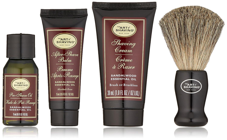 The Art Of Shaving Starter Kit - Sandalwood: Pre Shave Oil + Shaving Cream + Brush + After Shave Balm 4pcs 81345374