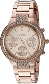Bulova Womens Quartz Stainless Steel Casual Watch, Color:Rose Gold-Toned (Model