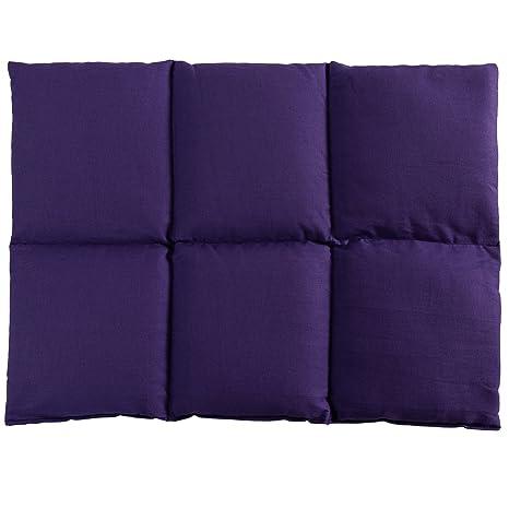 Cuscini Riscaldanti Con Semi.Cuscino Termico Cuscino Con Semi Di Colza 40x30 6 Tasche Porpora