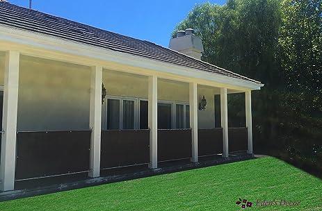 Edenu0027s Decor 35 Inches Height Privacy Screen Mesh Windscreen For Backyard  Deck, Patio,