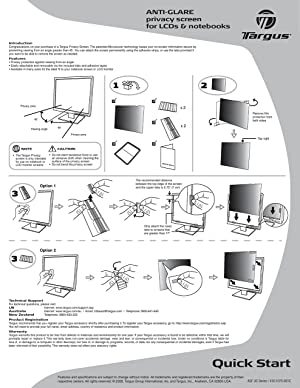 Targus 4Vu Privacy Filter Screen for 14.1-Inch Widescreen (16:9 Ratio) Laptops (ASF141W9USZ) (Tamaño: 14.1 Widescreen (16:9 Ratio))
