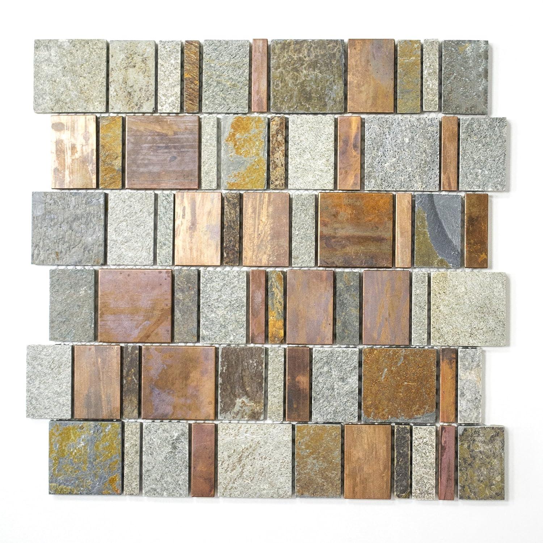 Carrelage pierre naturelle pour carrelage mosa/ïque cuivre Mix salle de bain cuisine wc 8/mm neuf # 511