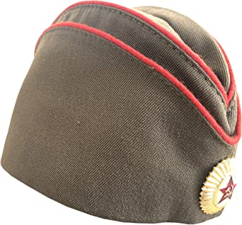 Ganwear/® Gorra rusa genuina sovi/ética Sombrero de piloto militar uniforme de la URSS con insignia de estrella roja