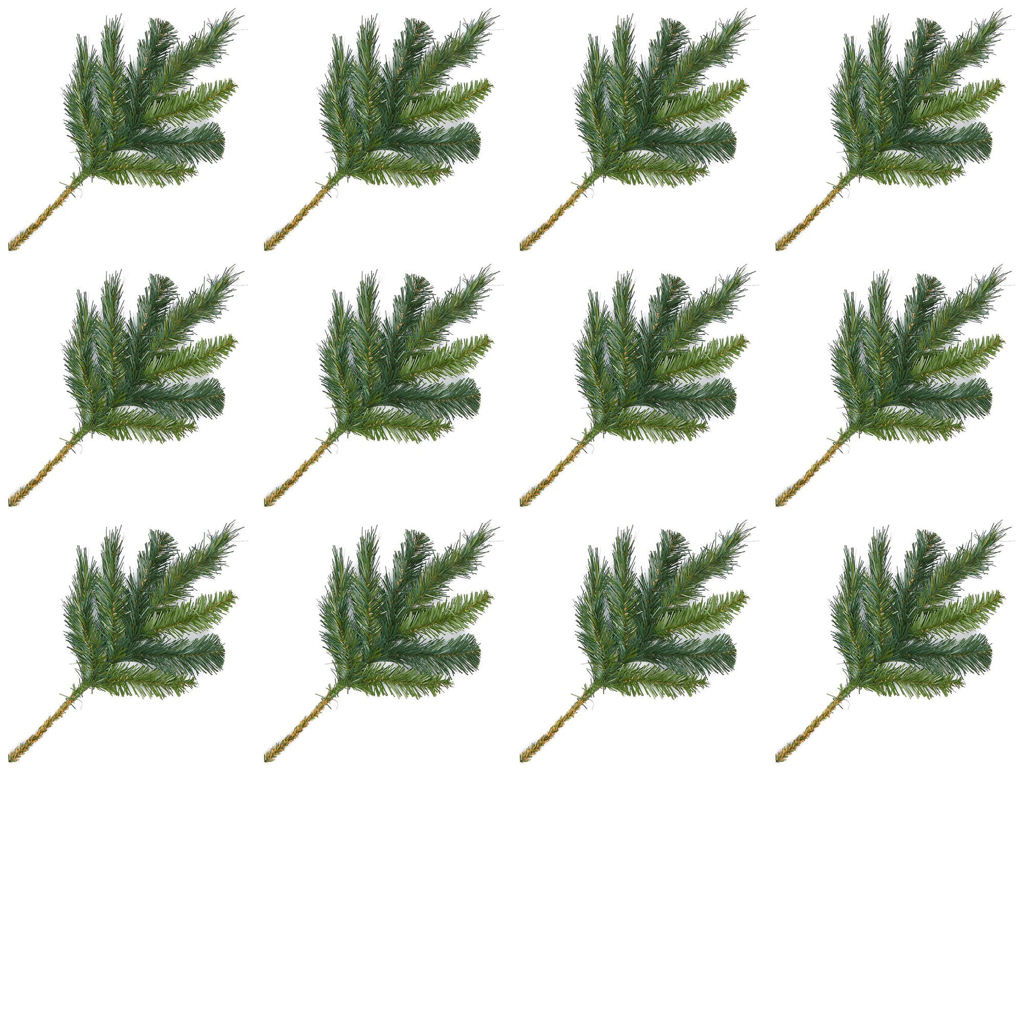 Factory Direct Craft Artificial Evergreen Pine Picks for Holiday Decorating - 24 Picks