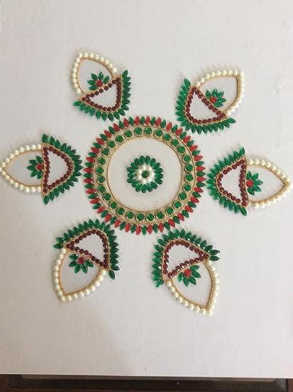 Rangoli Diwali Decoration Designer Craft Handmade Sequin