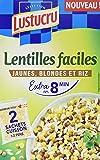 lustucru lentilles corail riz quinoa sachet cuisson 5 minutes 300 g amazon pantry. Black Bedroom Furniture Sets. Home Design Ideas