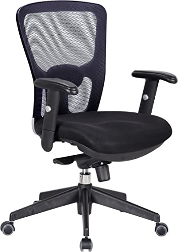 OFFICE FACTOR Black Executive Computer Task Mesh Back Office Chair