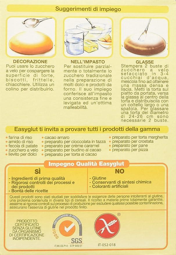 Easyglut Zucchero Velo 125G: Amazon.es: Alimentación y bebidas