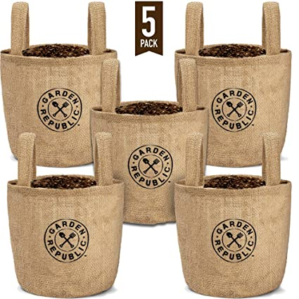 Amazon.com: 1 bolsa de yute para plantas, 5 unidades, para ...