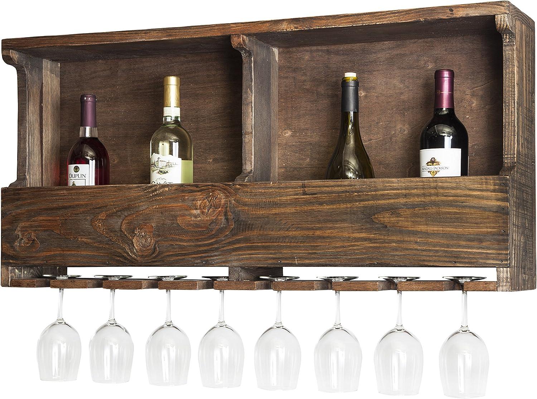 Alaterre Furniture Stowe-Reclaimed Wood Wine Rack, Brown
