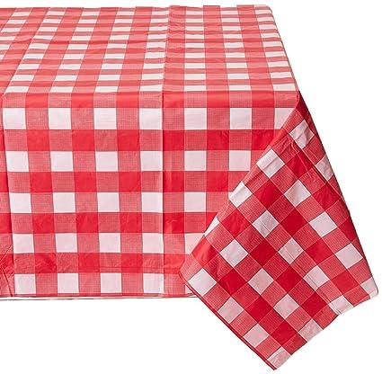 Amazon Com 54 X 108 Gingham Checkerboard Disposable Rectangular