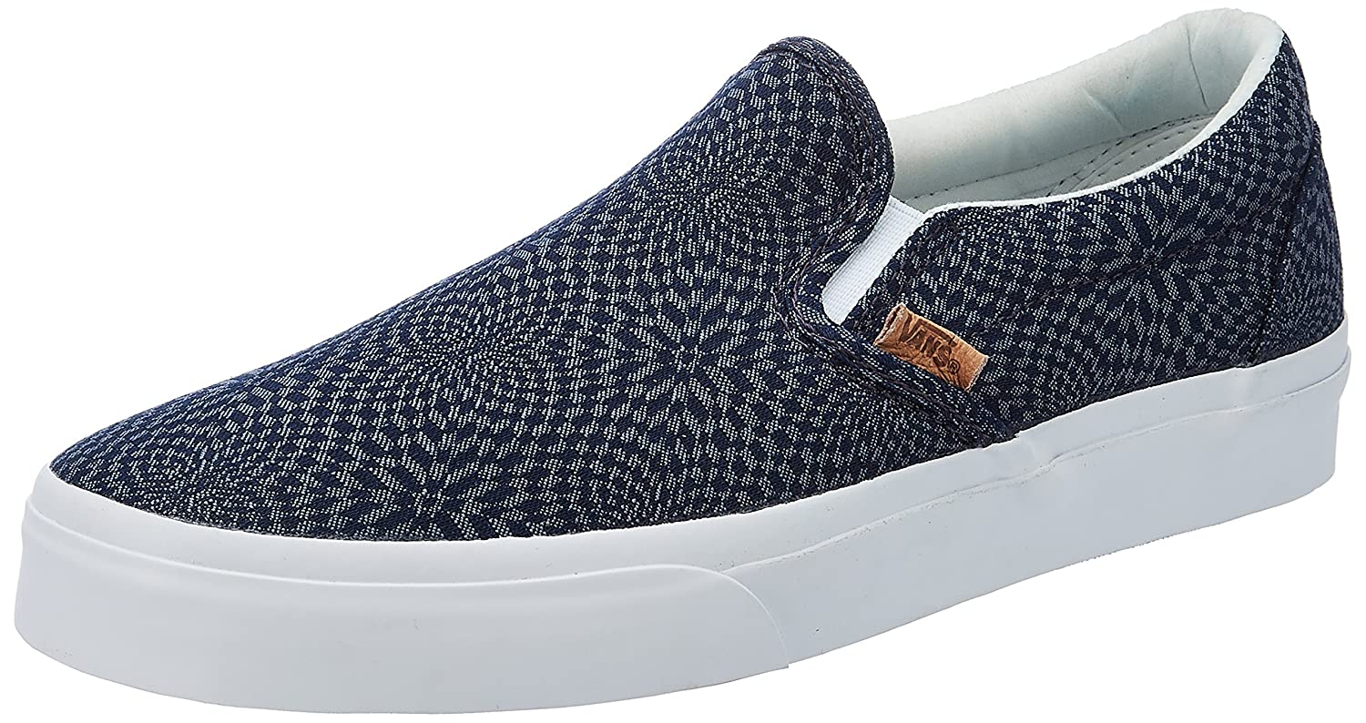 outlet sale amazon compare price Vans Unisex's Classic Slip-On DX (Geo Check) Blue Night ...