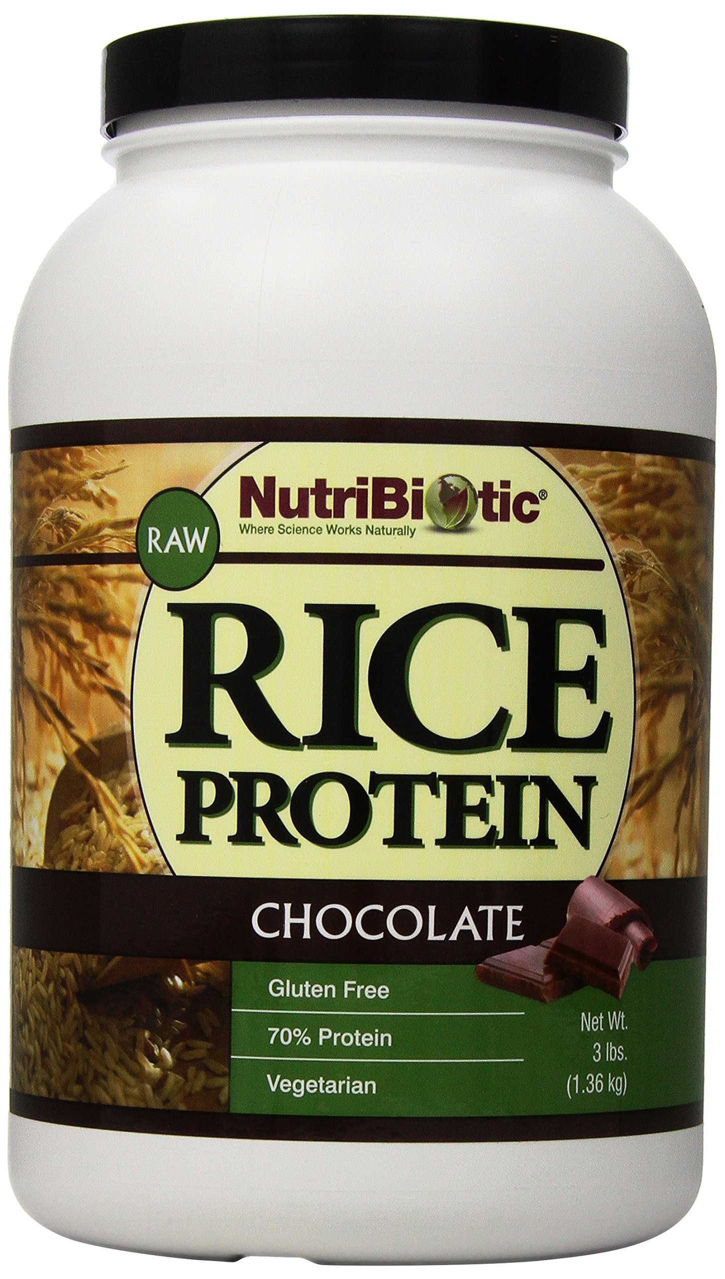 Nutribiotic Rice Protein, Chocolate, 3 Pounds