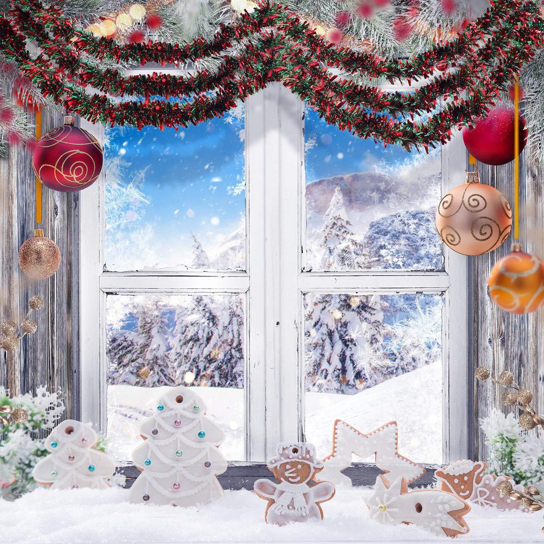 Color 1 BBTO 6 Pezzi Ghirlanda di Natale Tinsel Colore Misto Albero di Natale Orpelli Orpello Ghirlanda di Natale per Decorzione di Abero Natale