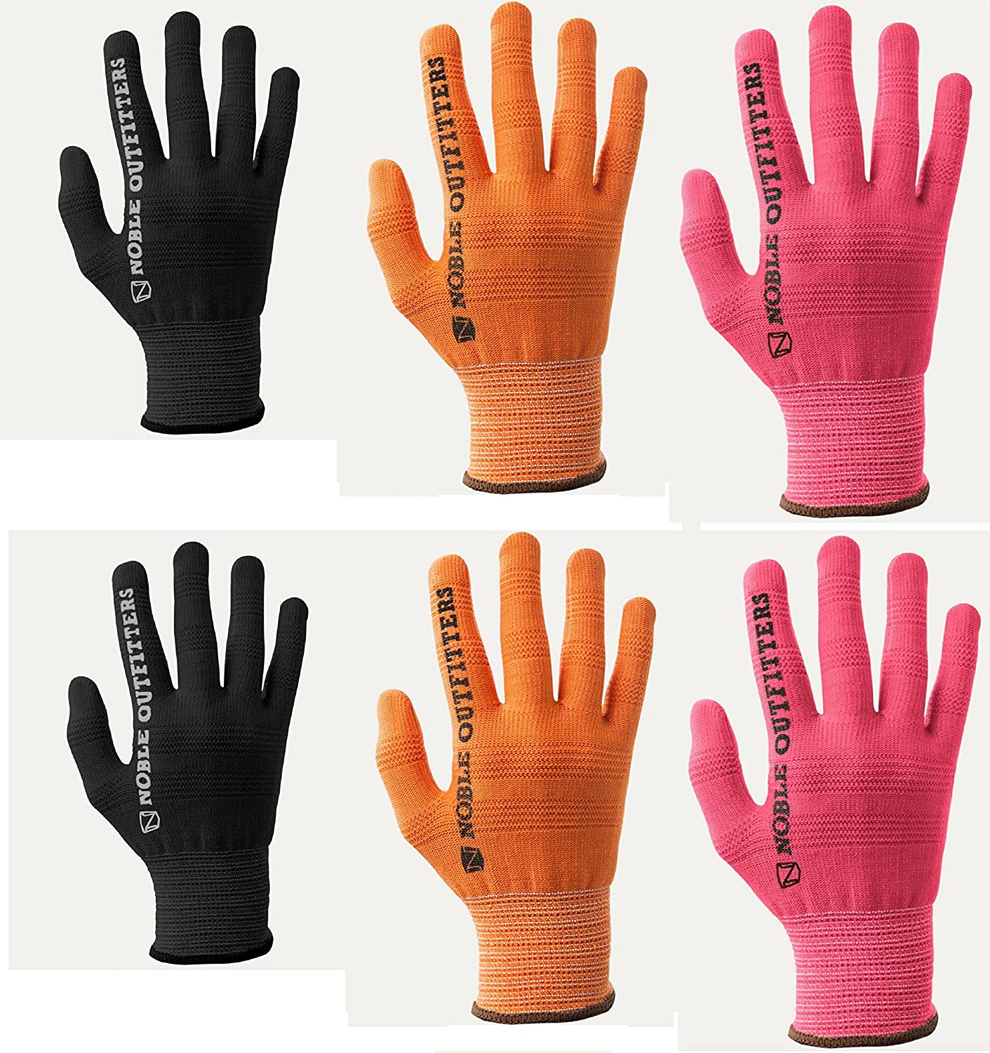 TrueFlex Roping Gloves Noble Outfitters 6 Pack Orange XXS XXL