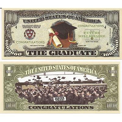 Graduation $Million Dollar$ Novelty Bill Collectible: Toys & Games