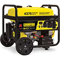 Champion Power Equipment 100554 RV Ready Wireless Remote Start Portable Generator, Black and Yellow