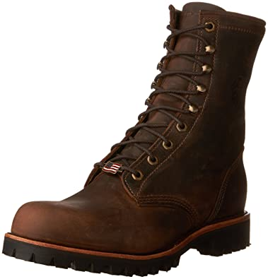 Comparison Shopping Chippewa Men's 20091 8 Inch Lace Up Logger EH ST Mens Chocolate Apache Chippewa Mens Boots
