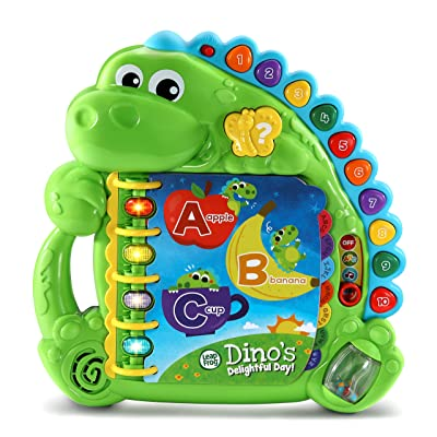 LeapFrog Dino's Delightful Day Alphabet Book, Green: Toys & Games