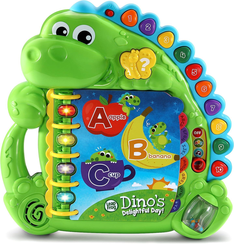 LeapFrog Dino's Delightful Day Alphabet Book, Green: Toys & Games