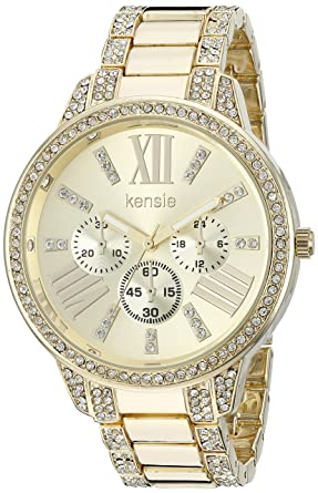 Kensie Womens Quartz Metal and Alloy Casual Watch, Color:Gold-Toned (Model