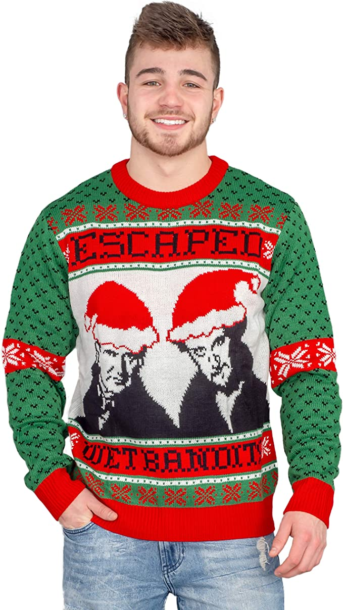 Home Alone Escaped Wet Bandits Adult Ugly Christmas Sweater