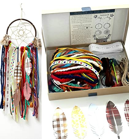 Amazon make your own diy dream catcher craft kit project make your own diy dream catcher craft kit project colorful unisex do it yourself wall hanging solutioingenieria