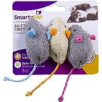 3-Pack SmartyKat Skitter Critters Catnip Mice Toys