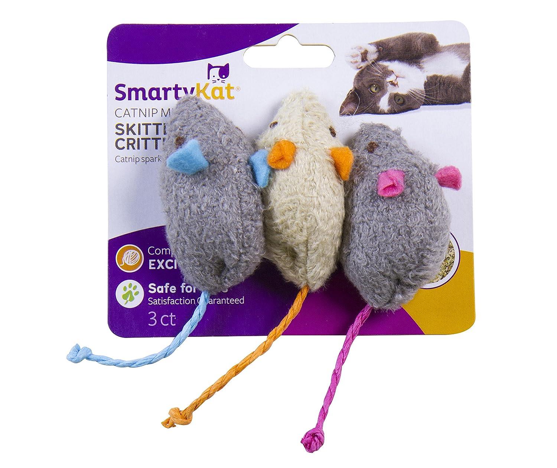 SmartyKat Skitter Critters Cat Toys Catnip Mice