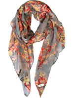 GERINLY Lightweight Scarves: Fashion Flowers Print Shawl Wrap For Women