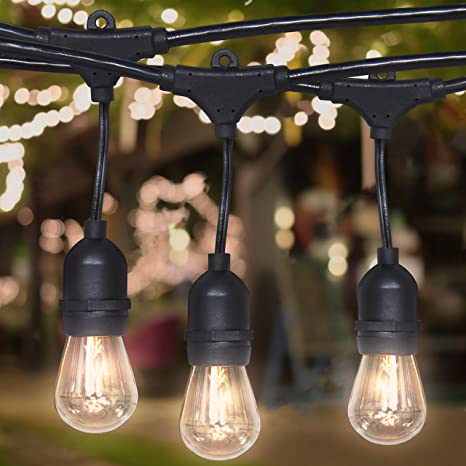 Best Choice Products 24ft Commercial Weatherproof Outdoor String Lights  Party, Restaurant, Patio Lights