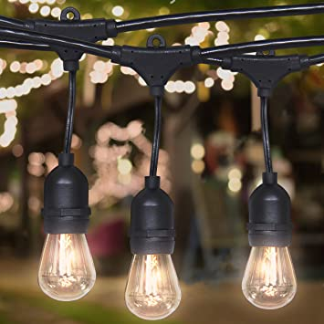 Best Choice Products Commercial Weatherproof 24u0027 Outdoor String Lights 12  Clear Bulbs  Party,