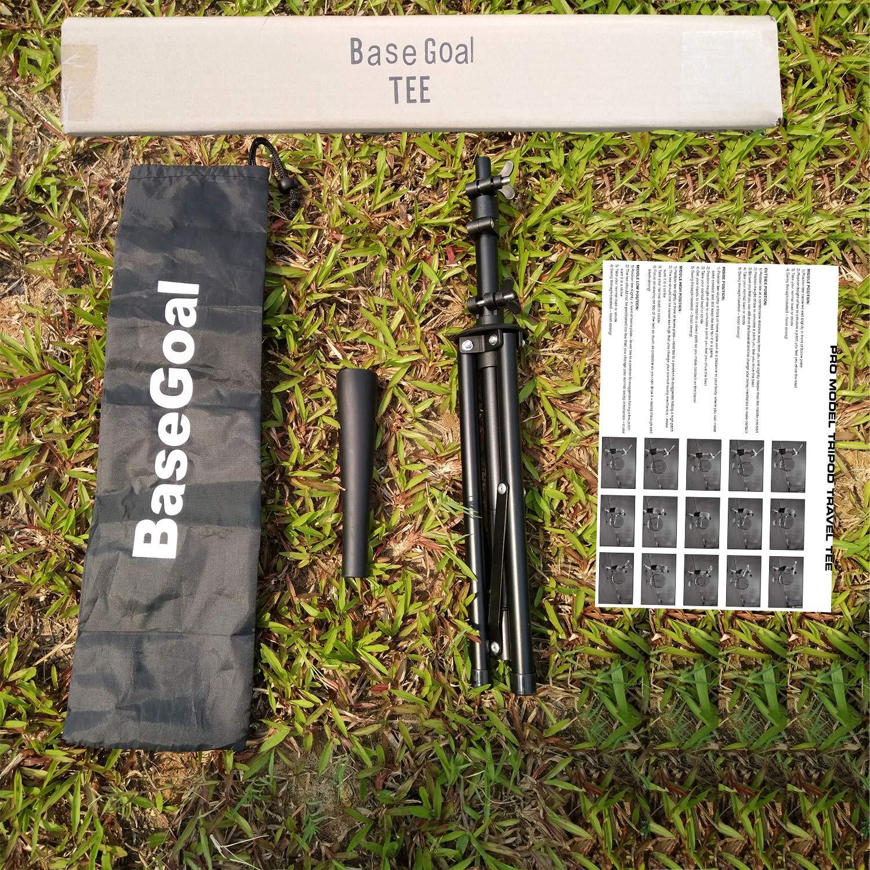 BaseGoal Batting Tee Baseball Tee Softball Travel Portable Tee Tripod Stand Rubber Tee for Batting Training Practice with Carrying Bag