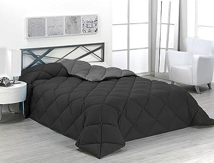 737690c9999 Sabanalia - Edredón nórdico de 400 g reversible (bicolor), para cama 135/