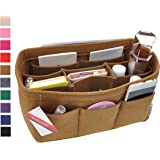 Vercord Felt Purse Organizer,4 Size Multicolor Durable Insert Shaper 12 Pockets