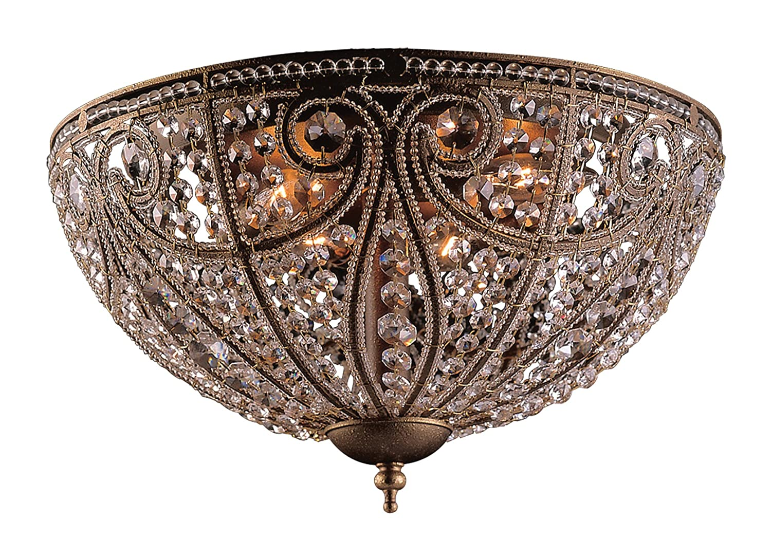 Elk Elizabethan 6-Light Flush-Mount Ceiling Fixture, Dark Bronze ...