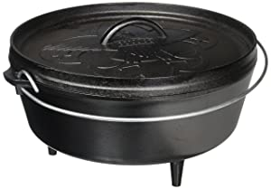 Lodge L12CO3BS Boy Scouts of America Cast Iron Camp Dutch Oven, Pre-Seasoned, 6-Quart