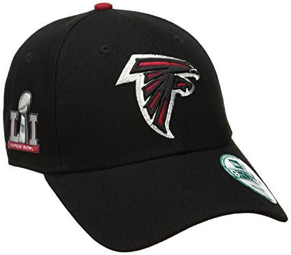 super popular d9018 07a47 New Era NFL Atlanta Falcons Men's The League Super Bowl Li Side Patch  9FORTY Adjustable Cap, One Size, Black