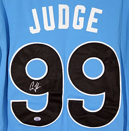 c22275079 Image Unavailable. Image not available for. Color  Aaron Judge New York  Yankees Signed Autographed 2017 All Star  99 Jersey