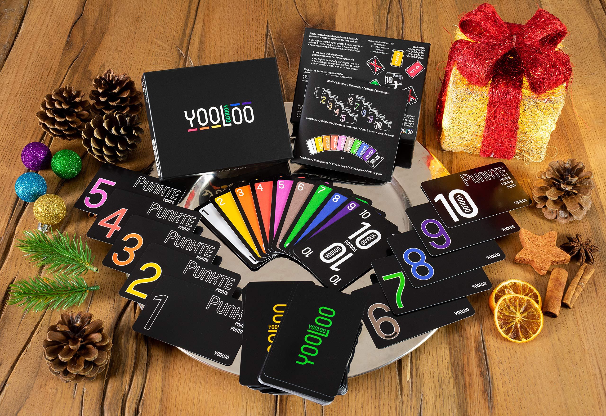 Comprar YOOLOO – El Divertido Juego de Cartas para Toda la Familia o para Fiestas – Nueva versión – (de 2 a 8 Personas)
