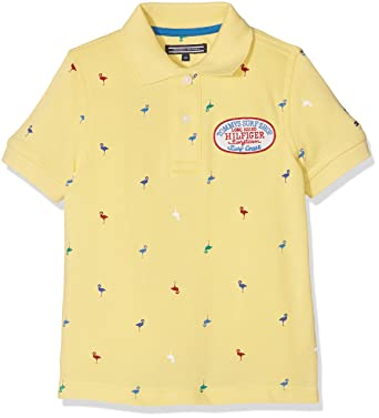 d3da5b4f Tommy Hilfiger Boy's Flamingo Print Polo S/S Shirt: Amazon.co.uk: Clothing