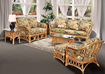Amazon.com: kingrattan.com Rattan Indoor Living Room ...