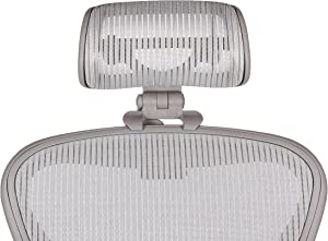 The Original Headrest for The Herman Miller Aeron Chair by Engineered Now (H3 for Classic, Zinc)