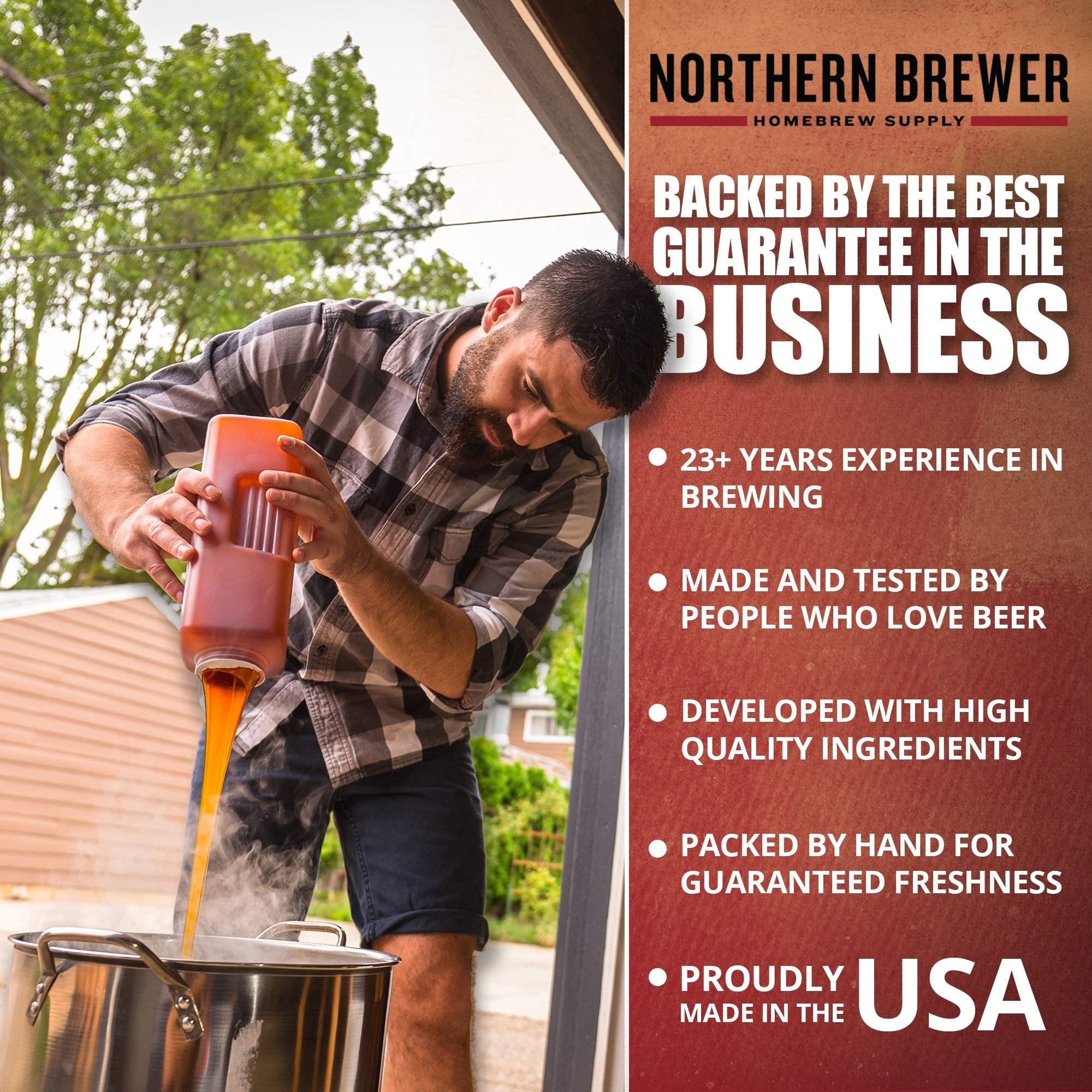 Northern Brewer - Brew. Share. Enjoy. Homebrew 5 Gallon Beer Brewing Starter Set Recipe Kit and Brew Kettle (Block Party Amber) by Northern Brewer (Image #5)