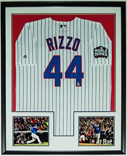 huge discount 99e1a 1558c ANTHONY RIZZO SIGNED 2016 WORLD SERIES MAJESTIC CUBS JERSEY ...