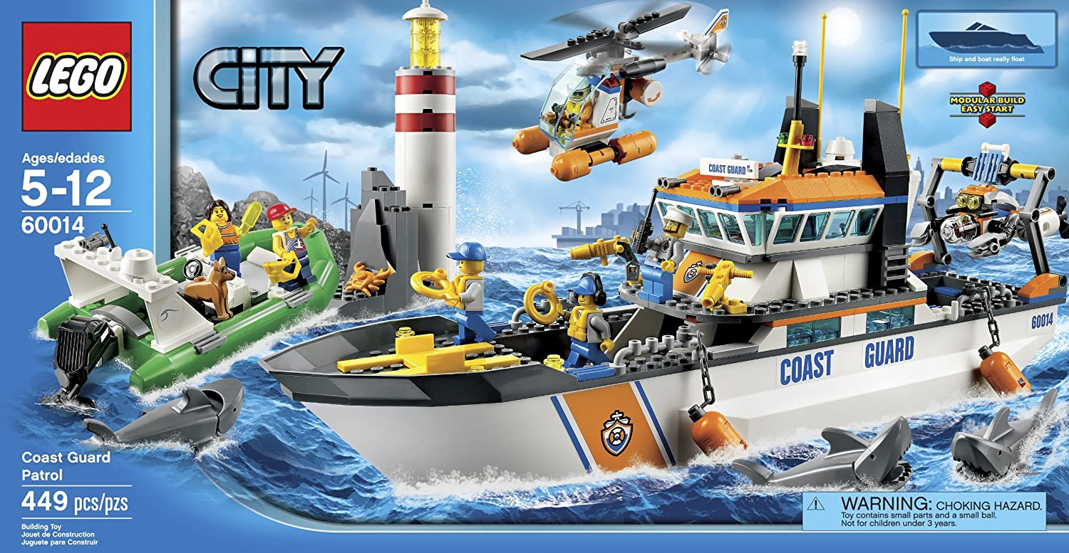 Amazon.com: LEGO City Coast Guard Patrol 60014 (Discontinued by  manufacturer): Toys & Games